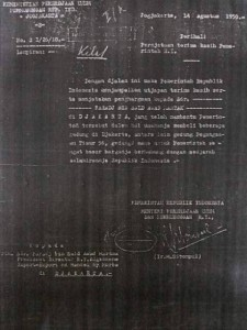 Surat Penghargaan Pemerintah untuk Faradj Martak