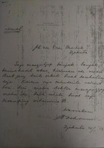 Surat ucapan terima kasih dari Bung Karno